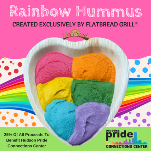 Flatbread Grill® Creates 'Rainbow Hummus' To Celebrate Diversity & Raise Awareness For The LGTBQ Community